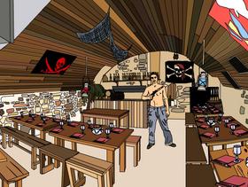restaurant resto pirate lyon cuisine fran aise. Black Bedroom Furniture Sets. Home Design Ideas